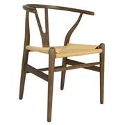 PoliVaz Wishbone Side Chair; Brown