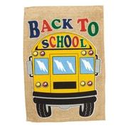 Evergreen Enterprises, Inc Back to School Bus 2-Sided Garden Flag