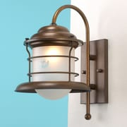 Lustrarte Lighting Caravela 1 Light Outdoor Wall lantern; 14.96'' / Earth / Frosted Boat