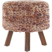 Chandra Ida Handmade Contemporary Stool; Rust