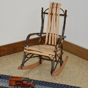 A&L Furniture Hickory Child Rocking Chair; Rustic Hickory