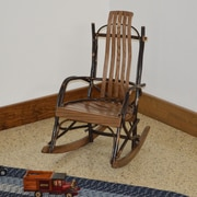 A&L Furniture Hickory Child Rocking Chair; Walnut