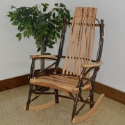 A&L Furniture Hickory Rocking Chair; Rustic Hickory