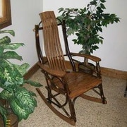 A&L Furniture Hickory Rocking Chair; Walnut