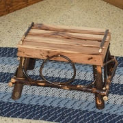A&L Furniture Hickory Footstool; Rustic Hickory