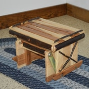 A&L Furniture Hickory Gliding Ottoman; Rustic Hickory