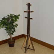 A&L Furniture Hickory Split Base Coat Rack