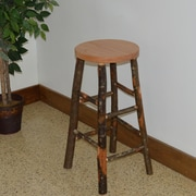 A&L Furniture Hickory 30'' Bar Stool; Natural