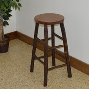 A&L Furniture Hickory 30'' Bar Stool; Walnut