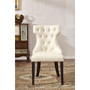 Corzano Designs Traditional Parsons Chair (Set of 2); White