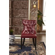 Corzano Designs Traditional Parsons Chair (Set of 2); Red
