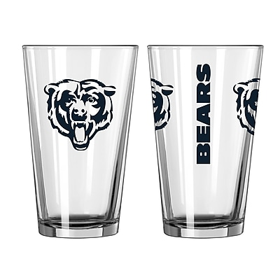 Boelter Brands NFL 16 Oz. Pint Glass (Set of 2); Chicago Bears WYF078278272220