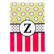 Evergreen Enterprises, Inc New Baskerville Peppy Monogram Vertical Flag; Z