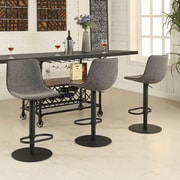 AC Pacific Mercury Adjustable Height Swivel Bar Stool With Cushion
