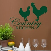 DecaltheWalls Country Kitchen Graphic Wall Decal; Dark Green