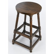 AA Importing 28'' Bar Stool; Pecan