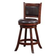 Boraam Rhea 24'' Swivel Bar Stool with Cushion; Hazelnut