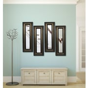 Rayne Mirrors Molly Dawn Stepped Antiqued Mirror Panels (Set of 4); 43'' H x 15'' W x 0.75'' D