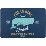 Island Girl Home Ocean King Whale Floor Mat