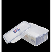 Lock & Lock 9.7-Cups Rectangular Storage Container with Divider