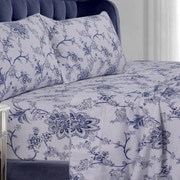Tribeca Living Floral Cotton Sheet Set; California King