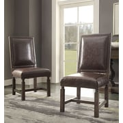 Craft+Main Savoy Side Chair (Set of 2); Black Leather