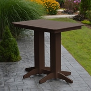 A&L Furniture Poly Bar Table; Tudor Brown