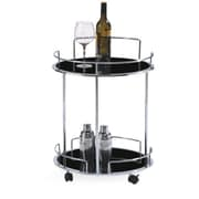 Casabianca Furniture Olbia Kitchen Cart with Glass Top