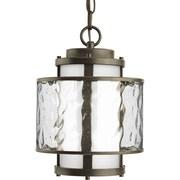 Progress Lighting Bay Court 1 Light Outdoor Hanging Lantern; Antique Bronze