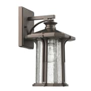 Chloe Lighting 1 Light Outdoor Wall Sconce; Rubbed Bronze