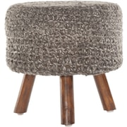 Chandra Ida Handmade Contemporary Stool; Charcoal
