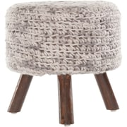 Chandra Ida Handmade Contemporary Stool; Beige