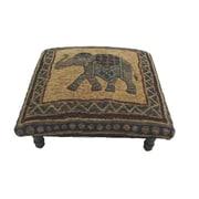 Corona Decor Vintage Elephant Footstool; Green/ Blue