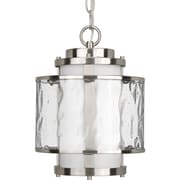 Progress Lighting Bay Court 1 Light Outdoor Hanging Lantern; Brushed Nickel