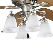 Progress Lighting Renovations 4 Light Branched Ceiling Fan Light Kit; Antique Nickel