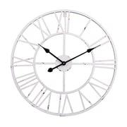 UtopiaAlley Roman Round Clock in White