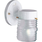 Progress Lighting 1 Light Outdoor Sconce; White