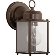 Progress Lighting 1 Light Outdoor Wall Lantern; Antique Bronze