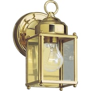 Progress Lighting 1 Light Outdoor Wall Lantern; Polished Brass