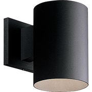 Progress Lighting Cylinder 1 Light Outdoor Sconce; Black