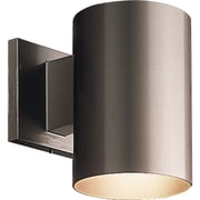 Progress Lighting Cylinder 1 Light Wall Lantern; Bronze