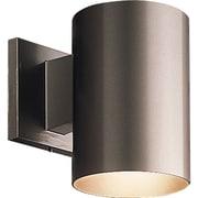 Progress Lighting Cylinder 1 Light Outdoor Sconce; Bronze