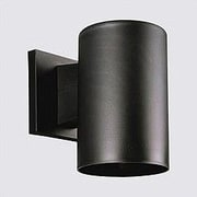 Progress Lighting Black Incandescent Plastic Cylinder 1 Light Outdoor Sconce