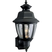 Progress Lighting 1 Light Wall Lantern; Black