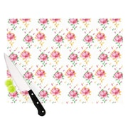 KESS InHouse Cross Stitch Flowers by Laura Escalante Cutting Board; 11.5 '' H x 15.75'' W x 0.5'' D