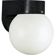Progress Lighting Globe 1 Light Sconce; Black