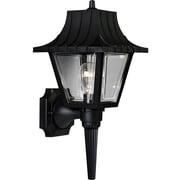 Progress Lighting Mansard 1 Light Outdoor Sconce; Black