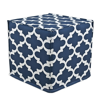 Brite Ideas Living Fynn Seamed Ottoman; Cadet Macon WYF078278530582