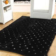 Affinity Linens Hand-Woven Black Indoor Area Rug; 3' x 5'