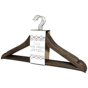 Signature Home Brands Wood Clothes Non-Slip Hanger w/ Pant Bar (Set of 60); Rustic